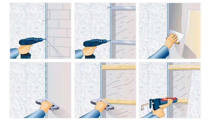 Крепление стеновых панелей своими руками